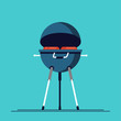 Cool vector barbecue party background with copy space. Barbecue cookout event. Spring or summer barbecue weekend celebration poster
