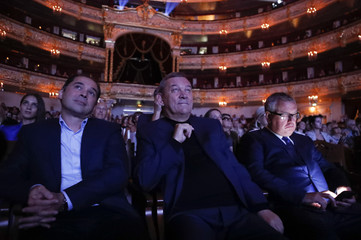 Director general of the Bolshoi Theatre Urin, Music Director and Chief Conductor Sokhiev and VTB Chief Executive Kostin attend a ceremony opening a new season in Moscow