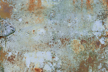 Old grunge corroded rusted metal wall texture Wall mural