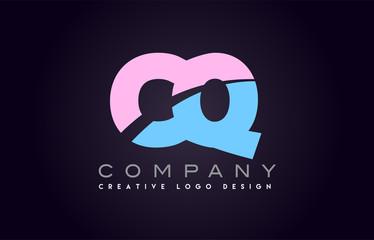 cq alphabet letter join joined letter logo design