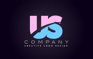 us alphabet letter join joined letter logo design