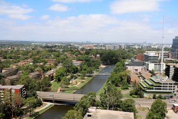 Parramatta City at Parramatta River in New South Wales, Australia Fototapete