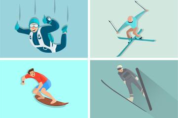 Cartoon sport character in cool design