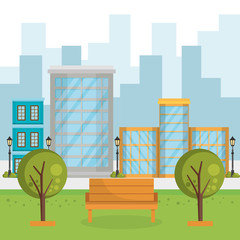buildings with cityscape scene vector illustration design