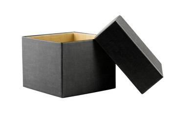 black box isolated on white background - clipping paths