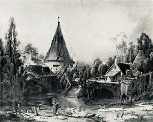 Landscape Near Beauvais (Francois Boucher, ca. 1740)
