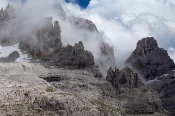 Dolomites During Foggy Weather