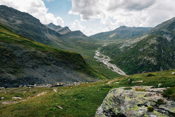 Mountains of Switzerland - Mountain Chain with Greina High Plain