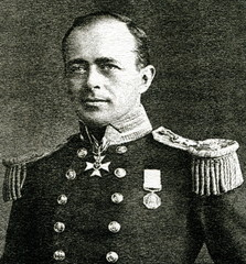 Robert Falcon Scott (1868 – 1912), British Royal Navy officer and explorer who led two expeditions to the Antarctic