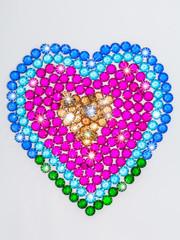 diamond jewelry in heart shape