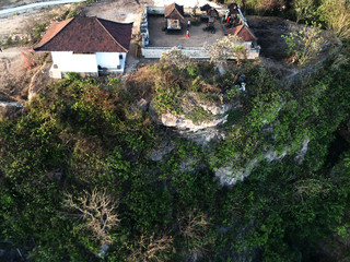 High Angle View Of Temple On Hill