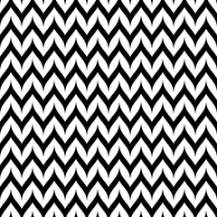 Vector Zigzag Chevron Seamless Pattern. Curved Wavy Zig Zag Lines