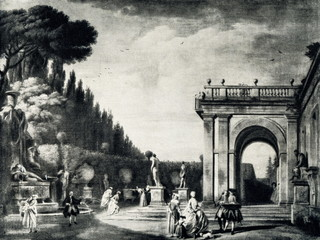 View of the Villa Ludovisi Park in Rome (Claude Joseph Vernet, 1749)