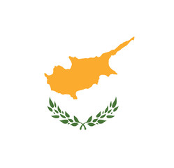 Abstract Cyprus Flag, Cypriot Colors (Vector Art)