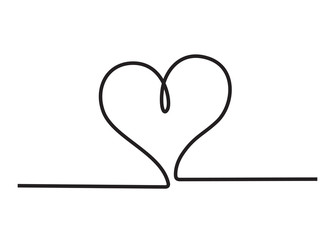 Heart icon. Stylish line art sign