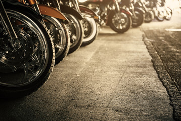 Spoed Foto op Canvas Fiets Motorcycles in a row