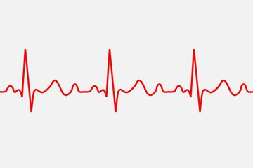 heartbeat icon. ECG Pathology Trace, Vector illustration.