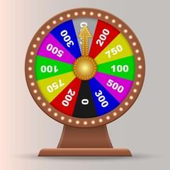 Wheel of fortune. lucky roulette vector illustration