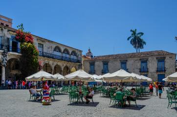 Straßencafe, Havanna