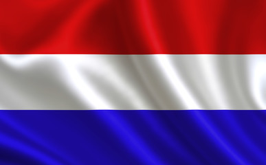 Dutch flag. Netherlands flag. Flag of Netherlands. Netherlands flag illustration. Official colors and proportion correctly. Dutch background. Dutch banner. Symbol, icon.