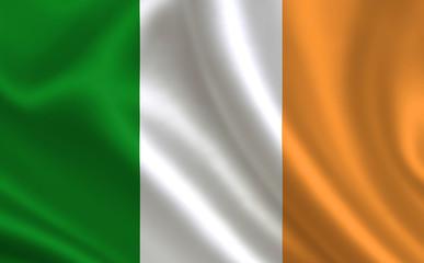 Irish flag. Ireland flag. Flag of Ireland. Ireland flag illustration. Official colors and proportion correctly. Irish background. Irish banner. Symbol, icon.
