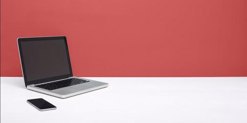 laptop web design mockup header
