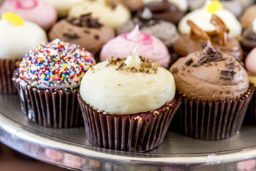 Assorted Flavors of Cupcake on Display