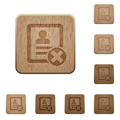 Cancel contact wooden buttons