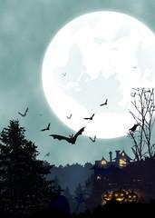 Halloween vertical background. Vertical poster