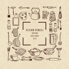 Cookware, vector illustration
