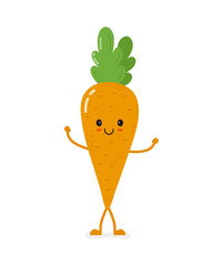 cute smiling vector carrot character