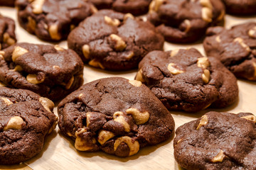 Making of Chocolate Peanut Butter Chip Cookies