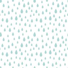 Rain drops seamless pattern.