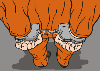 Prisoner in handcuffs.