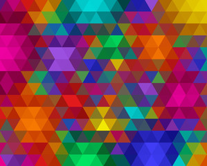 Vector triangular background. Bright abstract background for your creativity