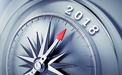 Silbergrauer Kompass - 2018