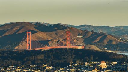 bay bridge of San Francisco, US.