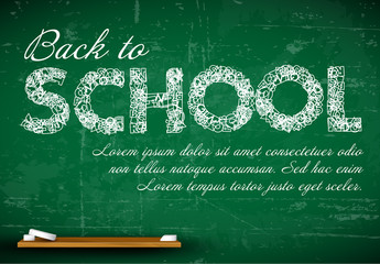Back to School Chalkboard Card Layout