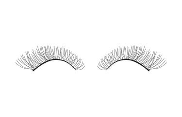 black pair of eyelashes extension- vector illustration