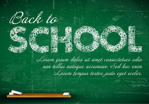 Back to School Chalkboard Card Layout