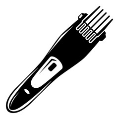 Electric hair clipper icon , simple style