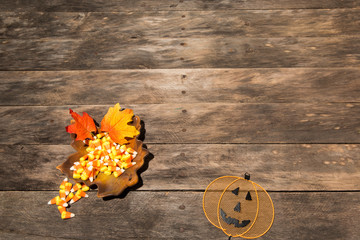 fall autumn wreath wood rustic background