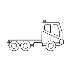 construction truck icon over white background vector illustration