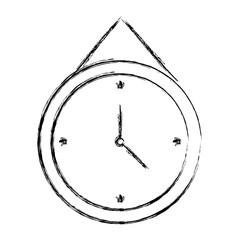 clock icon over white background vector illustration