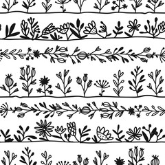 Herbs, seamless pattern for your design