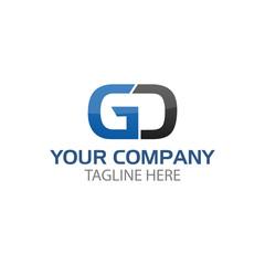 letter GD company linked letter logo