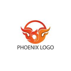Phoenix circle logo concept.