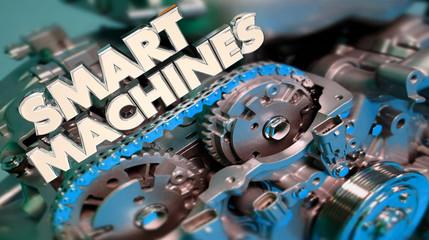 Smart Machines New Technology Engine Artificial Intelligence AI 3d Illustration
