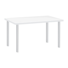 white table isolated illustration
