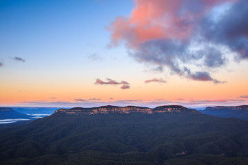 Blue Mountains Sunrise from Sublime Point